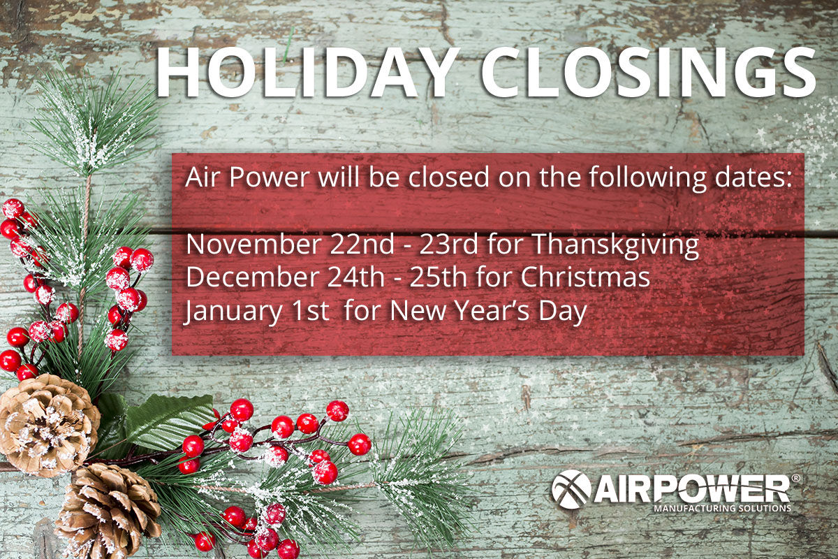 holiday closing schedule