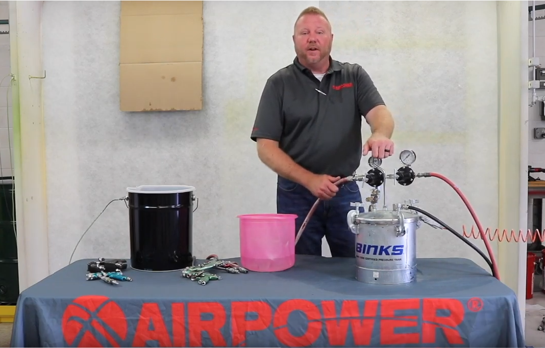 How to properly flush a pressure pot