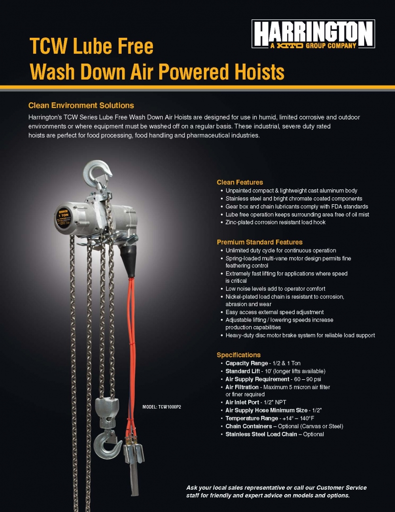 Harrington Hoists TCW Series